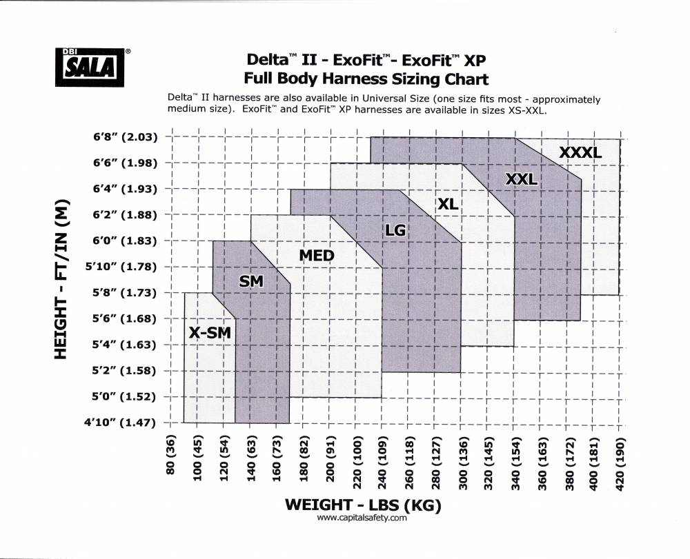 3m Dbi Sala 1108531 Exofit Vest Style Full Body Harness